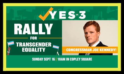 Rally for trans rights on September 16 in Copley Square 10am
