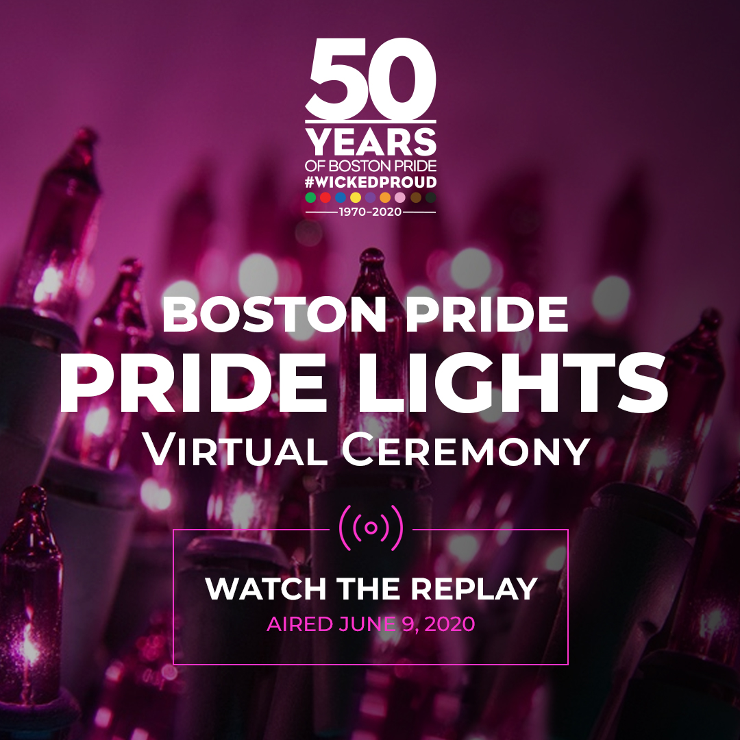Boston Pride Virtual Pride Lights
