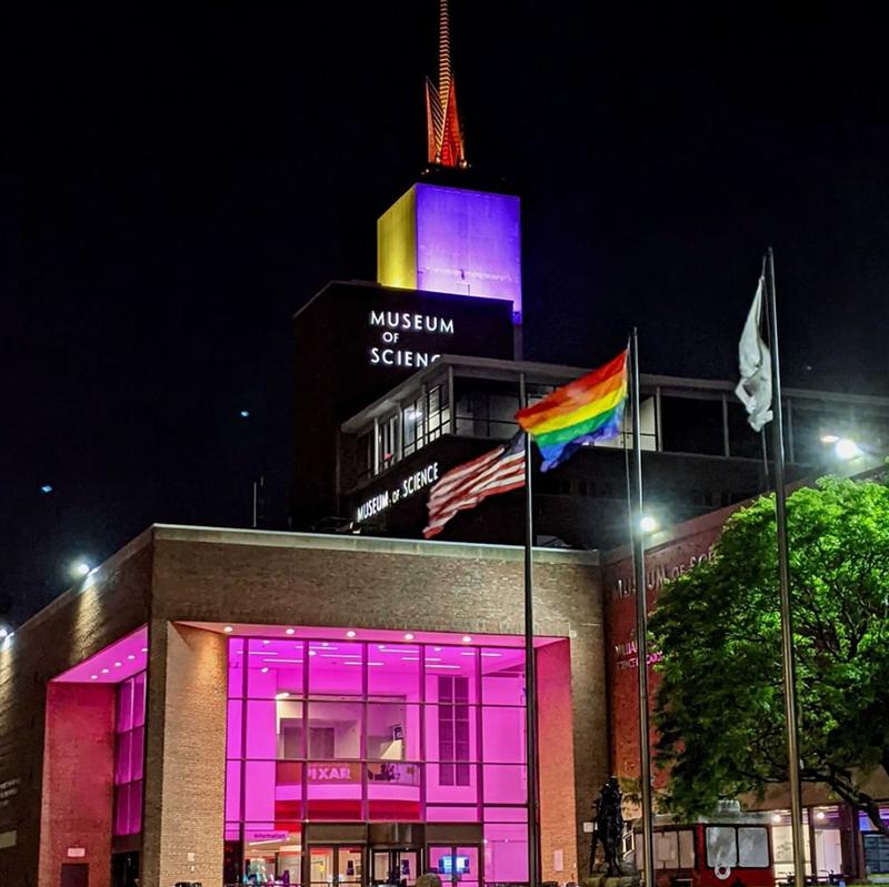 Museum of Science, Boston - Pride Illumination